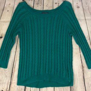 American Eagle teal green sweater